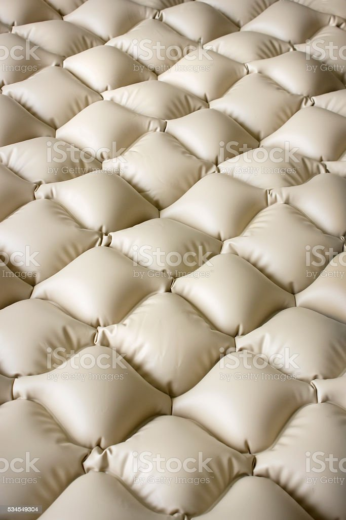 Inflatable mattress inflatable that does not allow bedsores stock photo