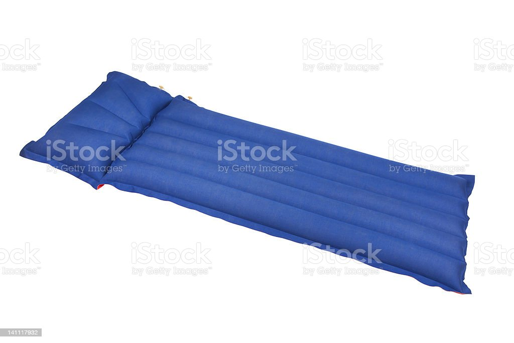 Inflatable mattress stock photo