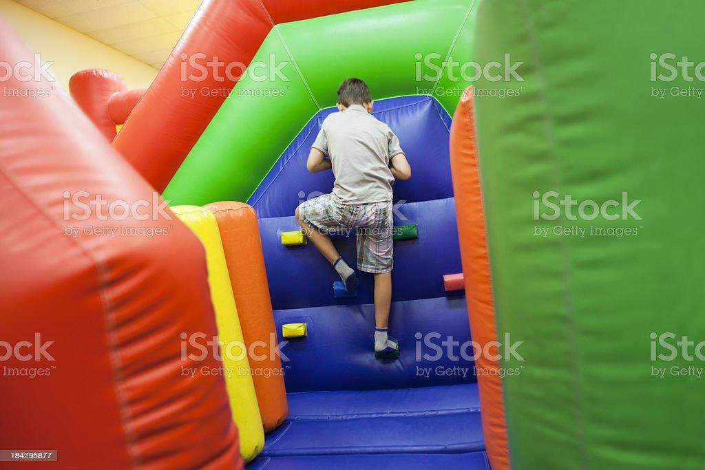 Inflatable Playground Climb stock photo