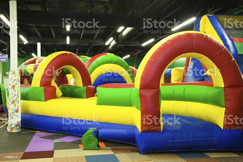 Inflatable Playground Indoors stock photo