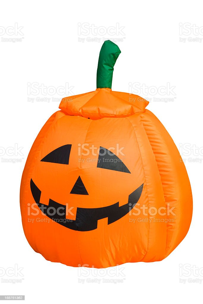 Inflatable pumpkin doll royalty-free stock photo