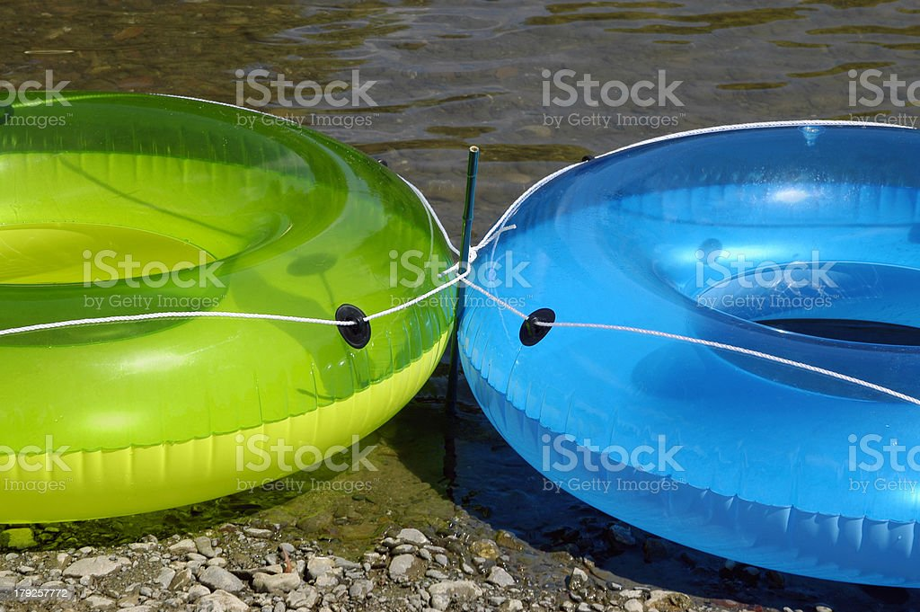 Inflatable Rings 2 royalty-free stock photo
