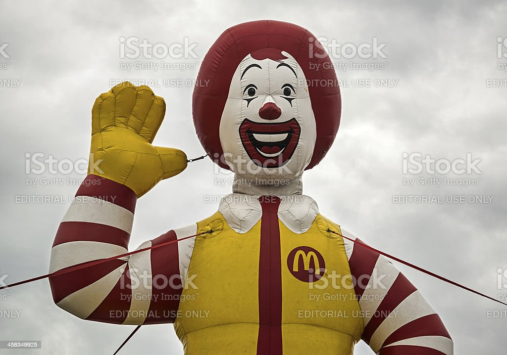 Inflatable Ronald stock photo