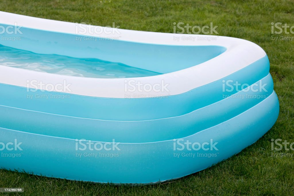 Inflatable swimming pool royalty-free stock photo