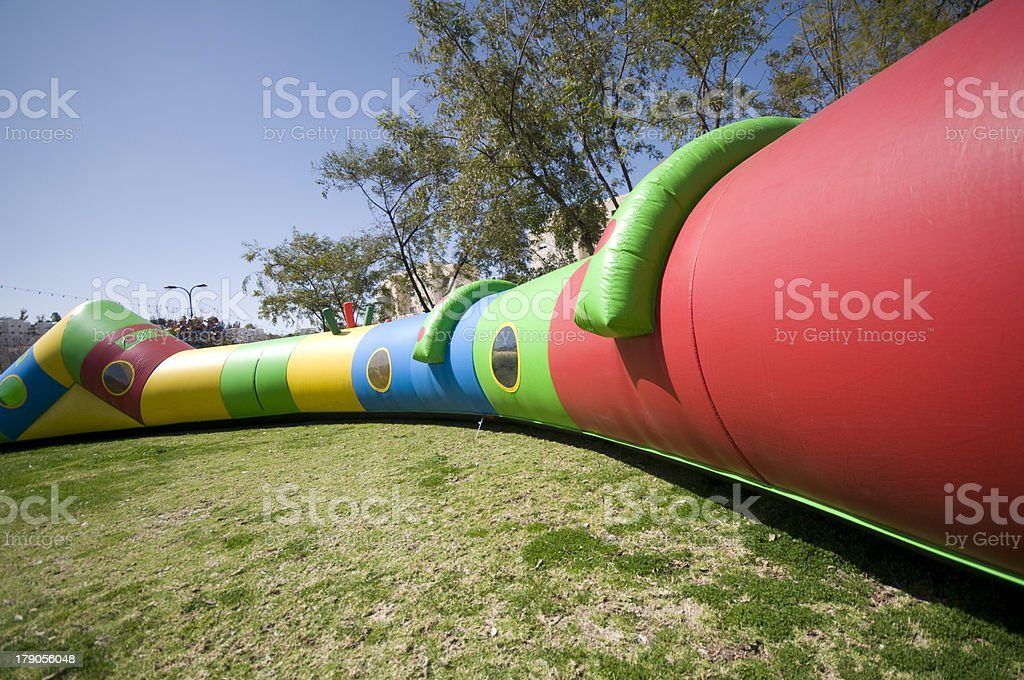 Inflatable tunnel royalty-free stock photo
