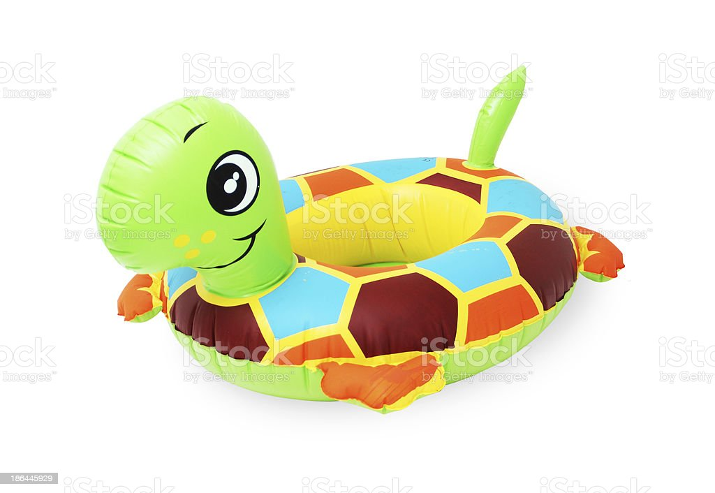 inflatable turtle stock photo