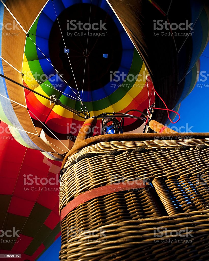 Inflated balloon from below royalty-free stock photo