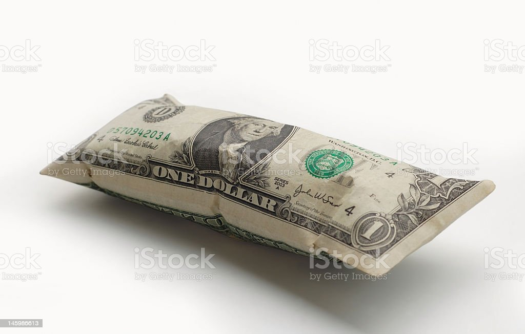 inflated dollar stock photo