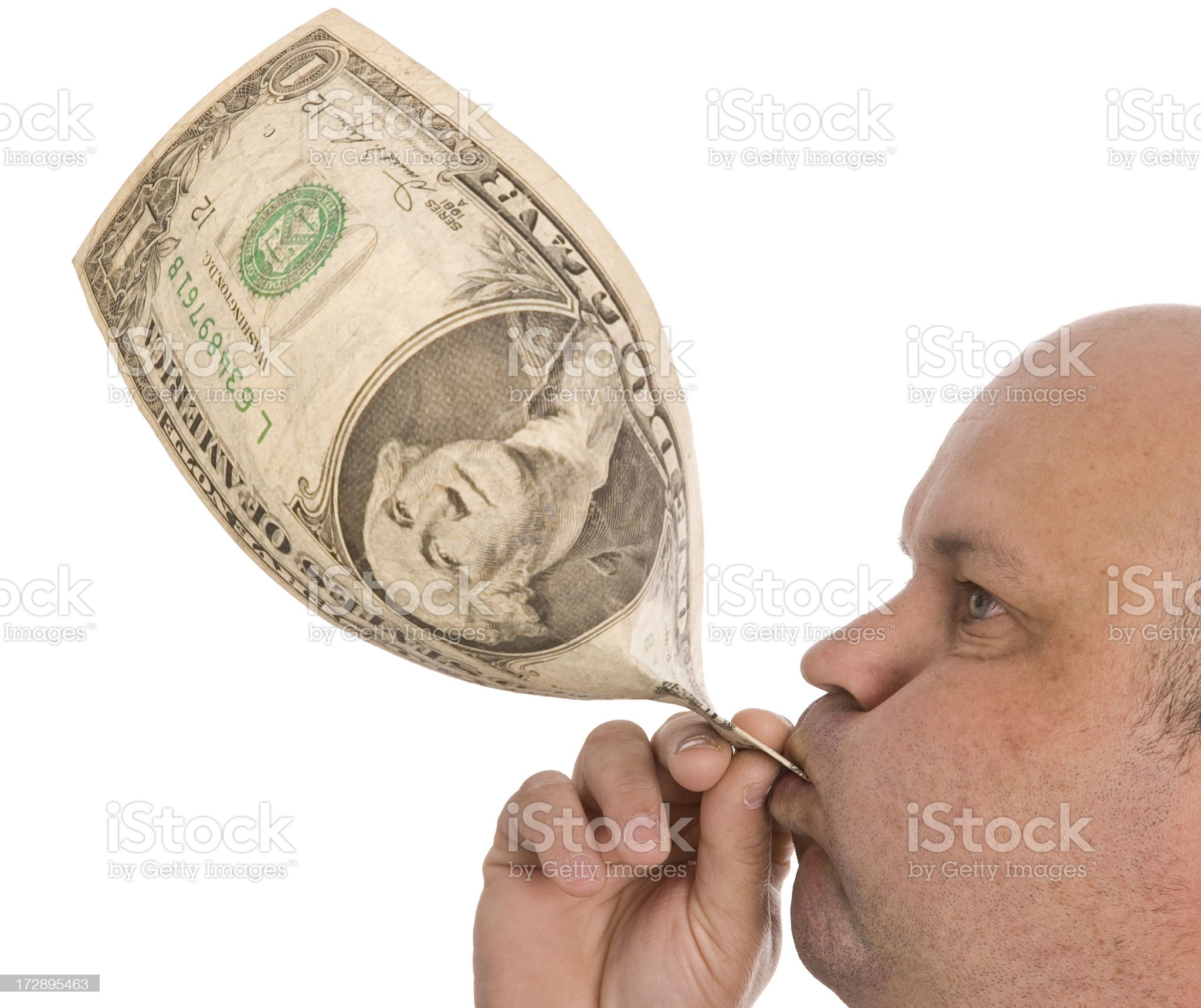 Inflated Dollar royalty-free stock photo