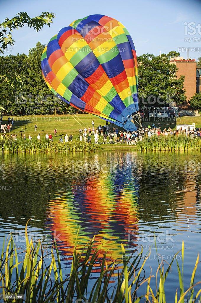Inflating Balloon stock photo
