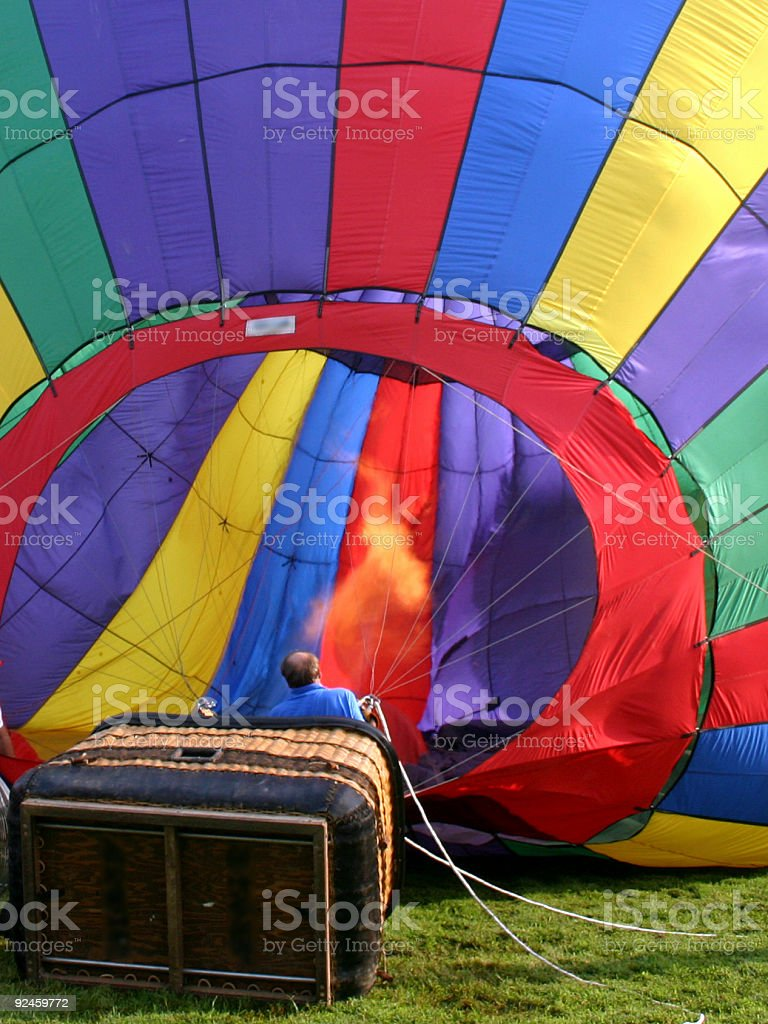 Inflating the Balloon royalty-free stock photo