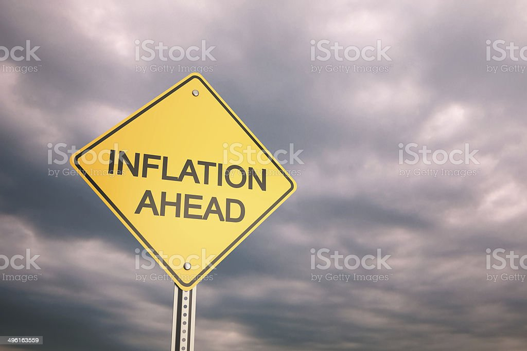 Inflation Ahead stock photo