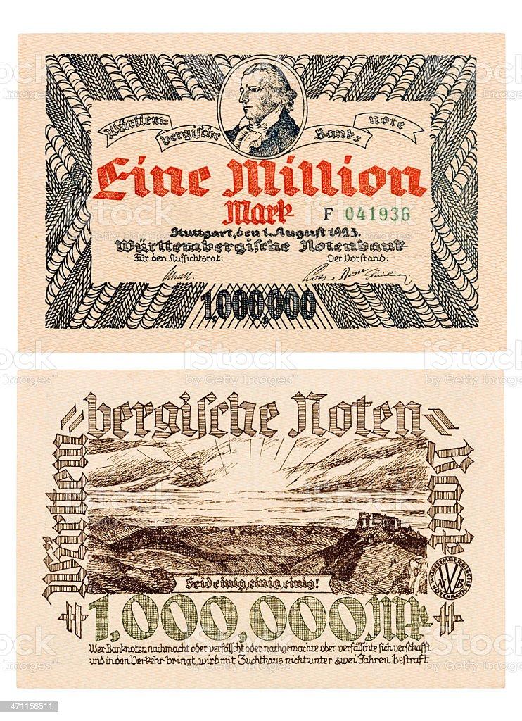 Inflation Bill stock photo