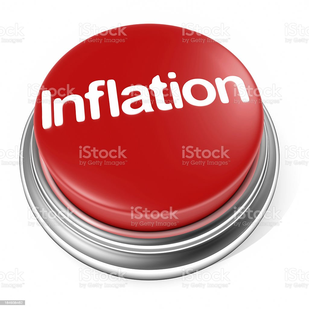 inflation button stock photo