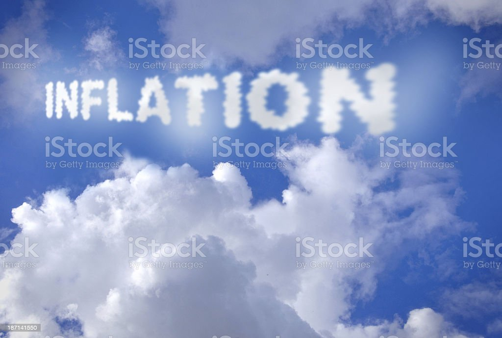 Inflation clouds stock photo