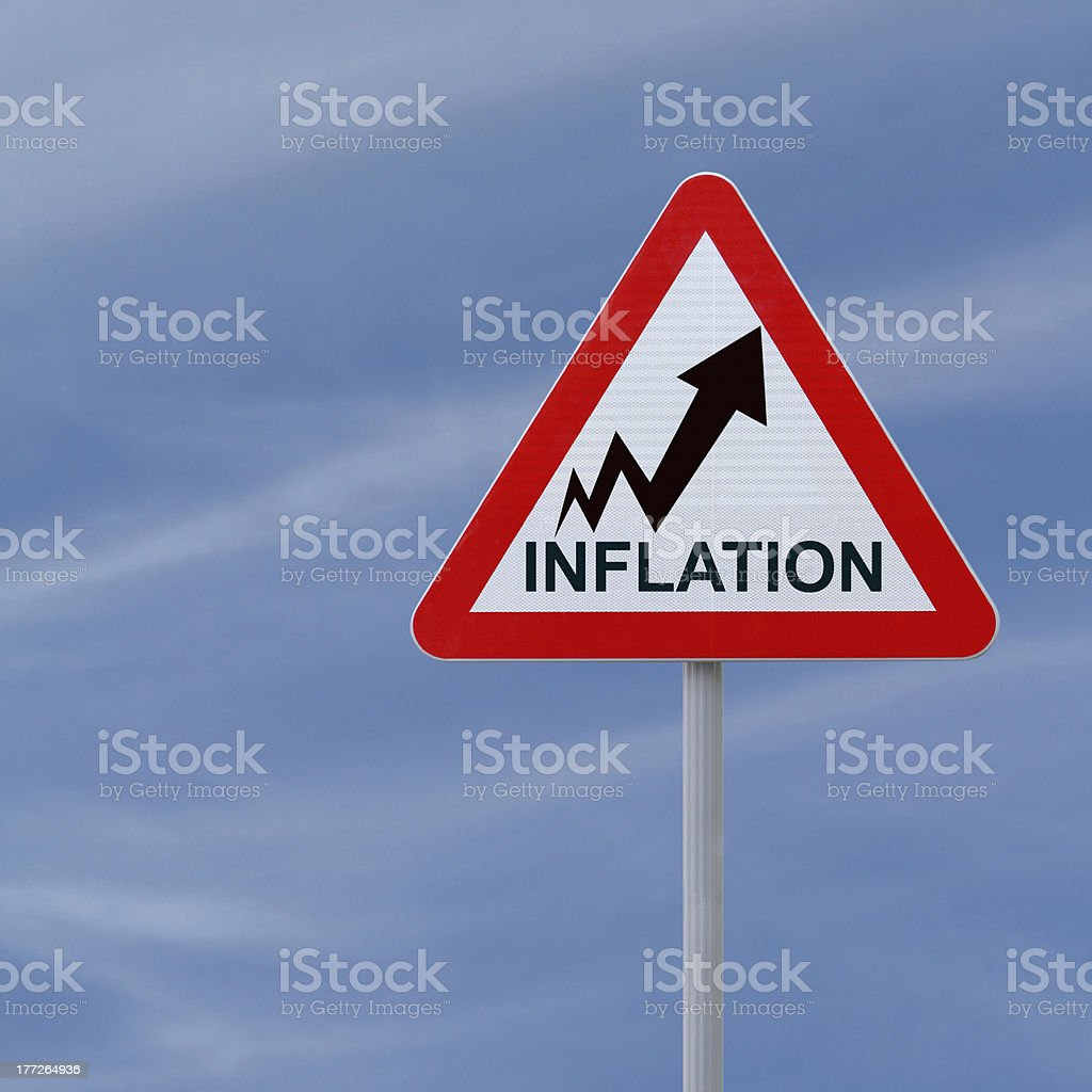 Inflation Going Up stock photo