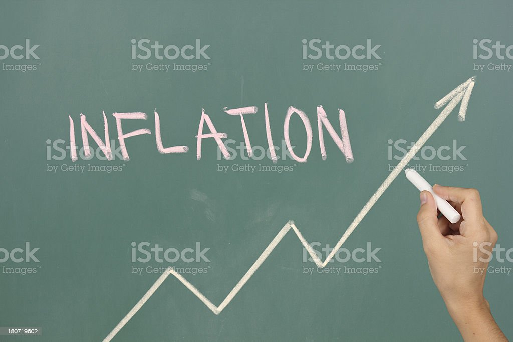 Inflation rate royalty-free stock photo