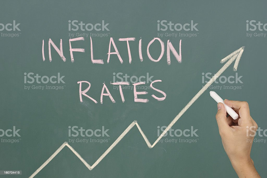 Inflation rates royalty-free stock photo