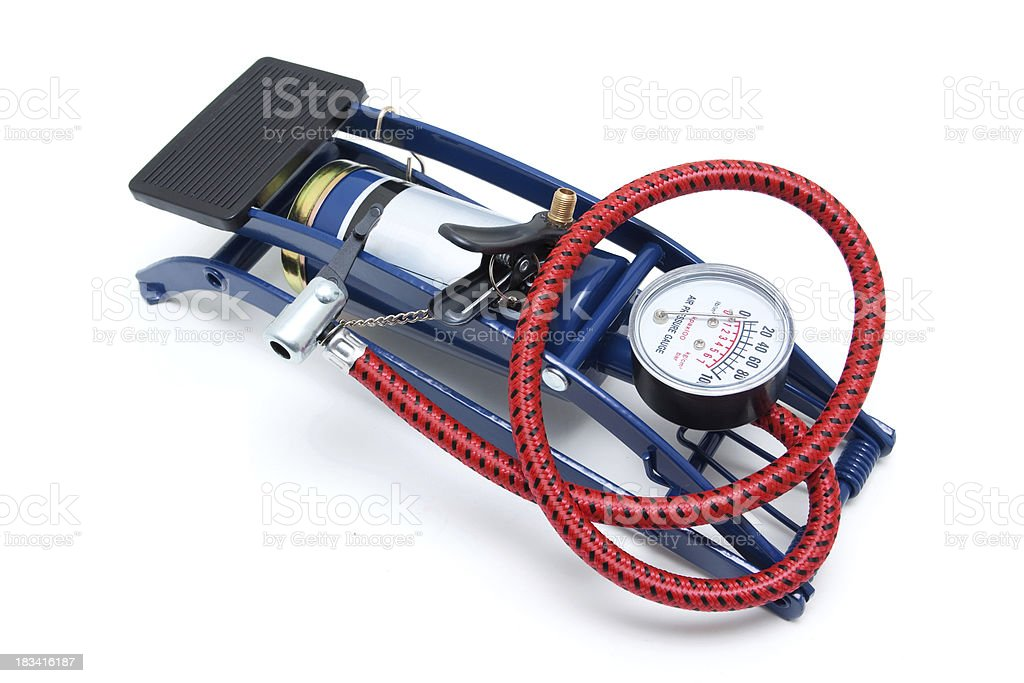 Inflator isolated on white background royalty-free stock photo