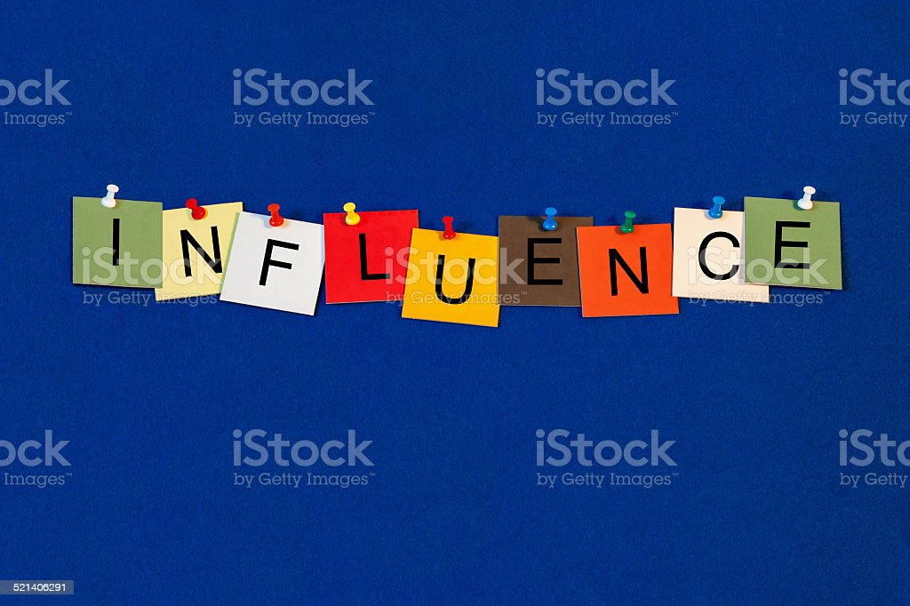 Influence - business concept, sales techniques and marketing. stock photo
