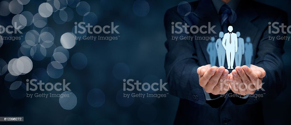 Influencer and opinion leader stock photo