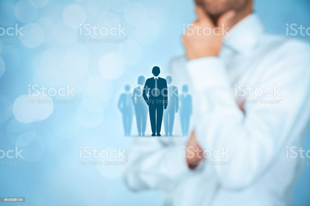 Influencer, opinion leader, team leader, CEO stock photo