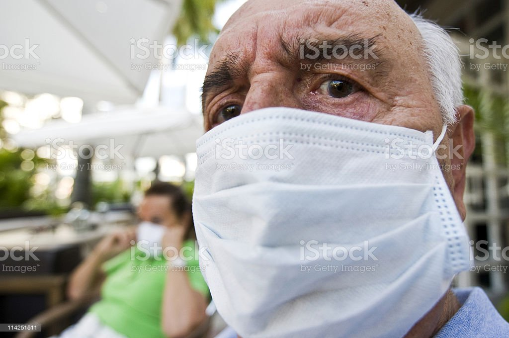 Influenza paranoia stock photo