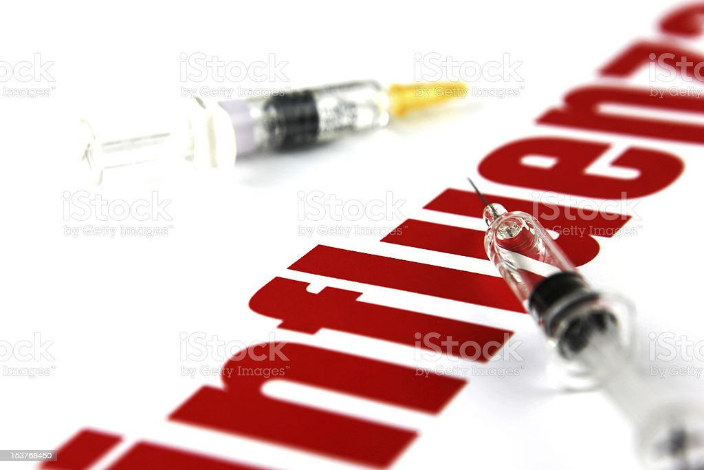 H1N1 Influenza Virus royalty-free stock photo
