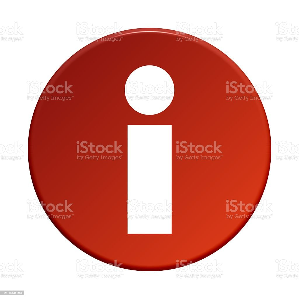 Info Button stock photo