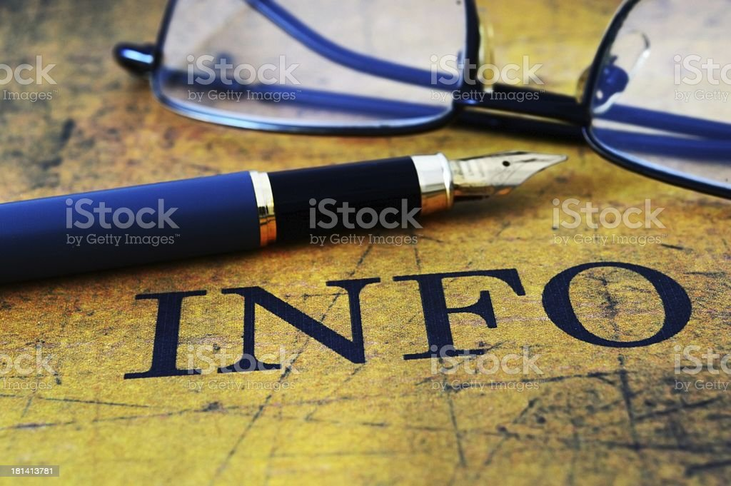 Info concept royalty-free stock photo