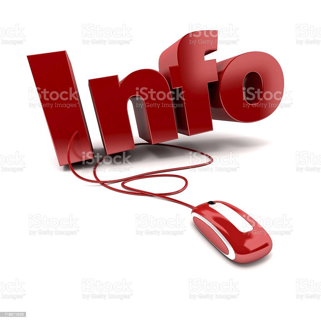 Info online stock photo
