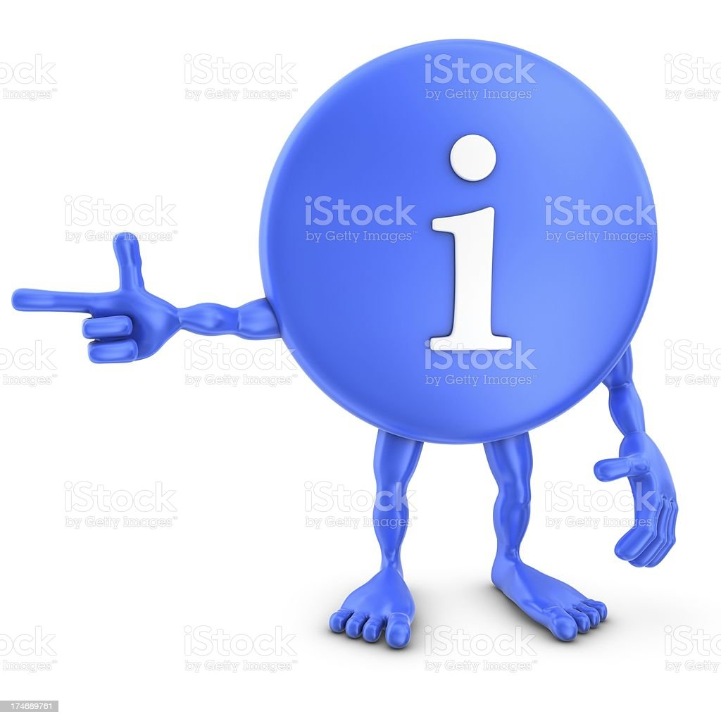 info sign man poiting right royalty-free stock photo