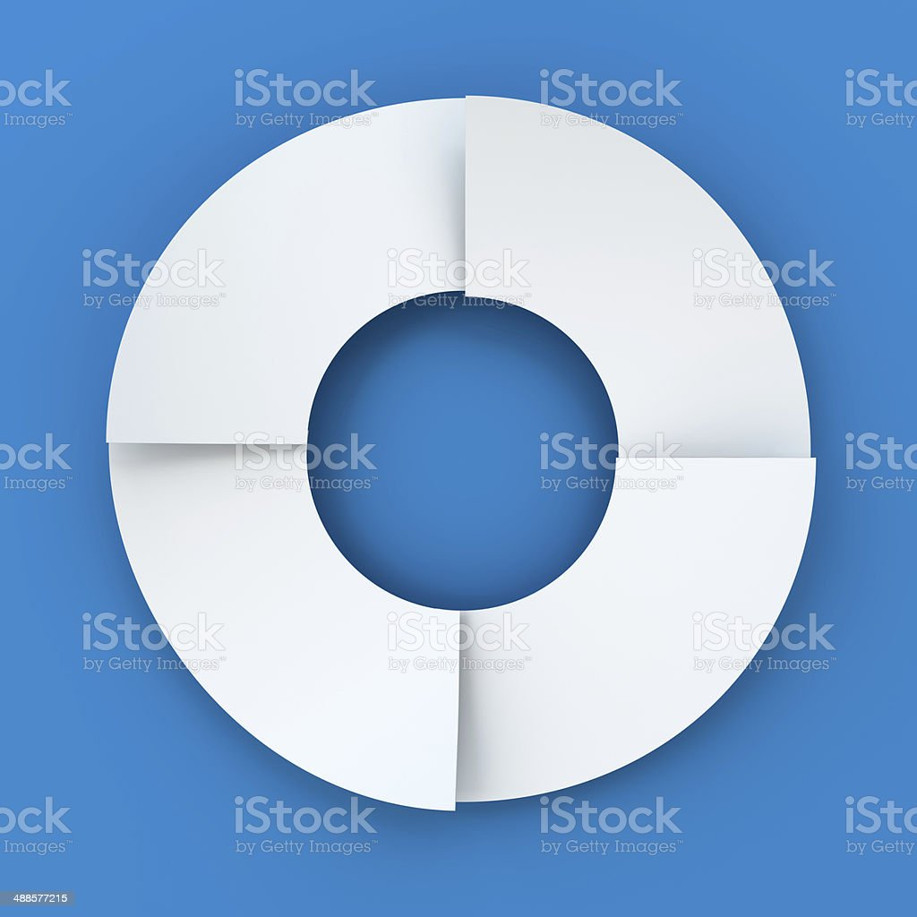 Infographic circle divided into four parts stock photo