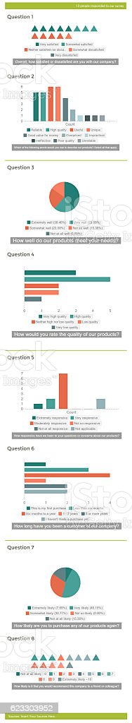 Infographic of business charts data stock photo