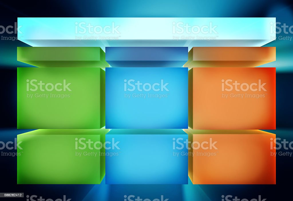 Infographic table template design. 3D high quality rendering. stock photo