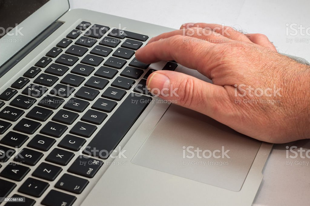 Infomation at your fingers stock photo
