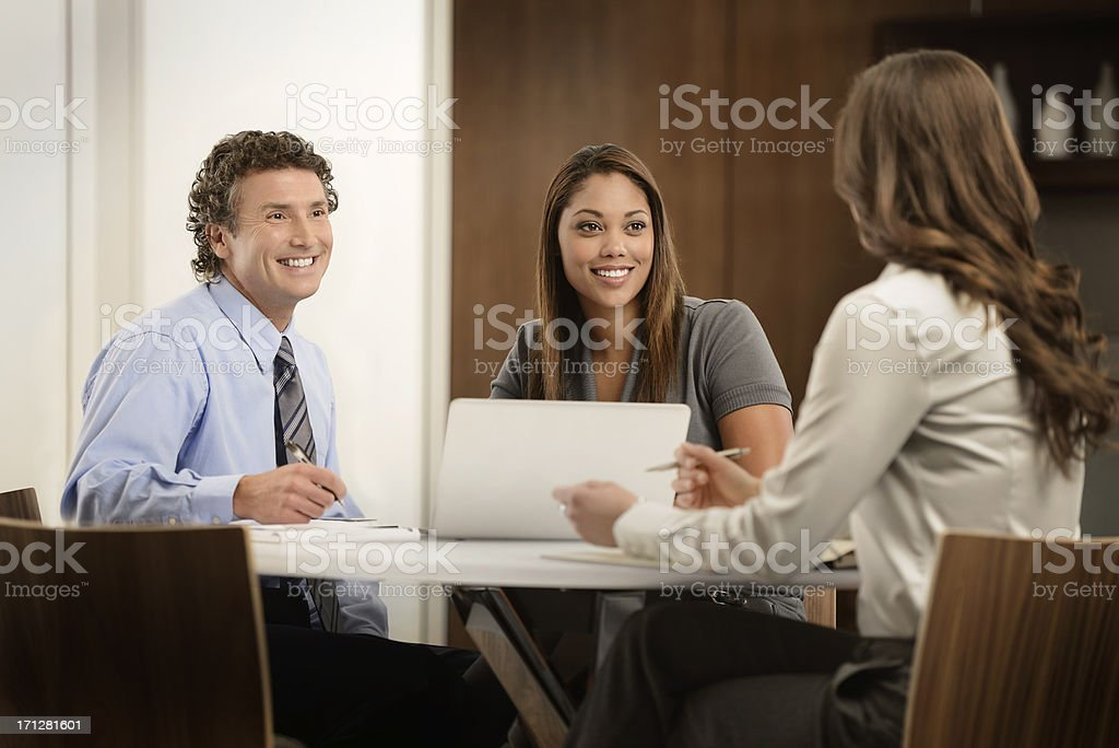 Informal Business meeting in Modern Office royalty-free stock photo