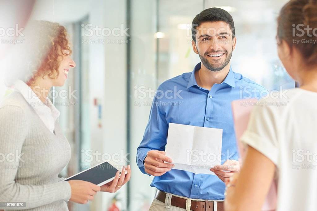 informal business meeting in modern office stock photo