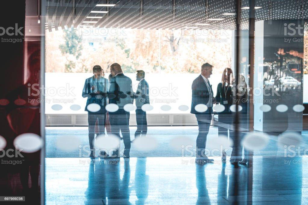 Informal meetings stock photo