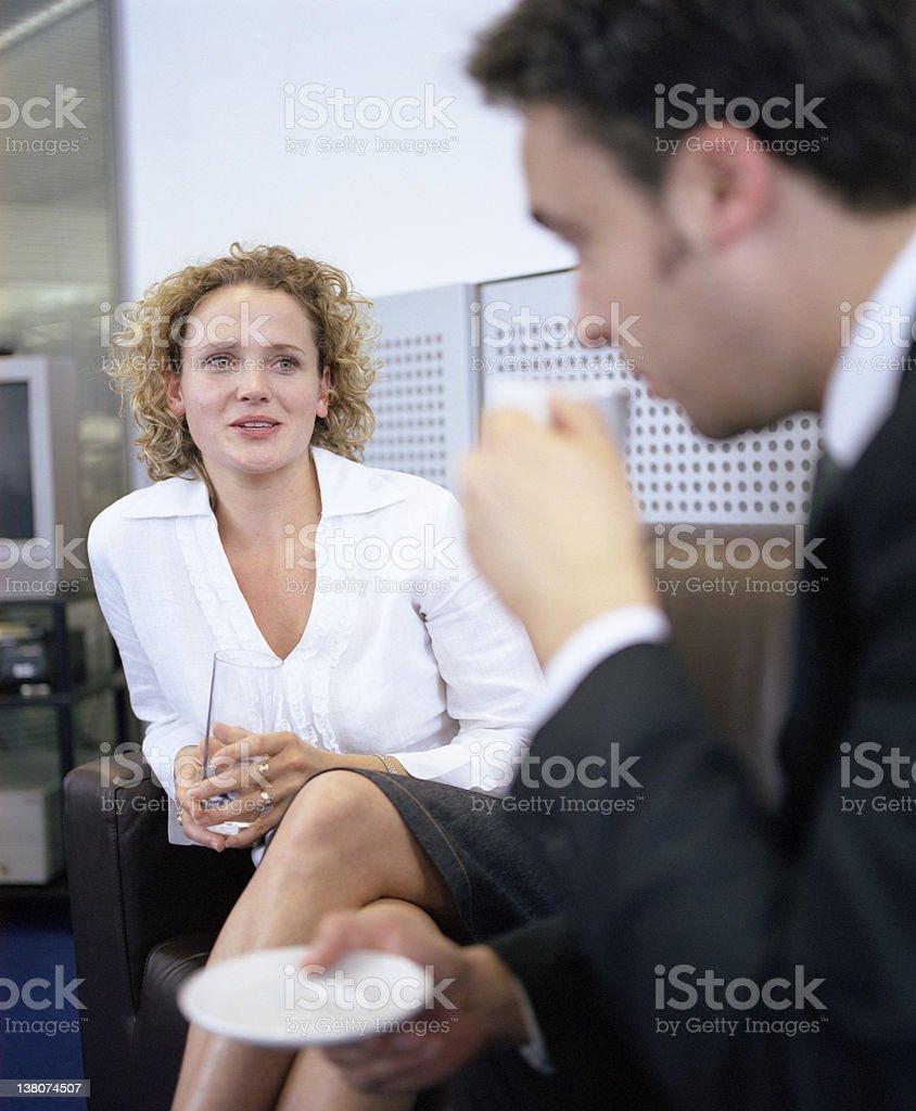 Informal Office Conversation royalty-free stock photo