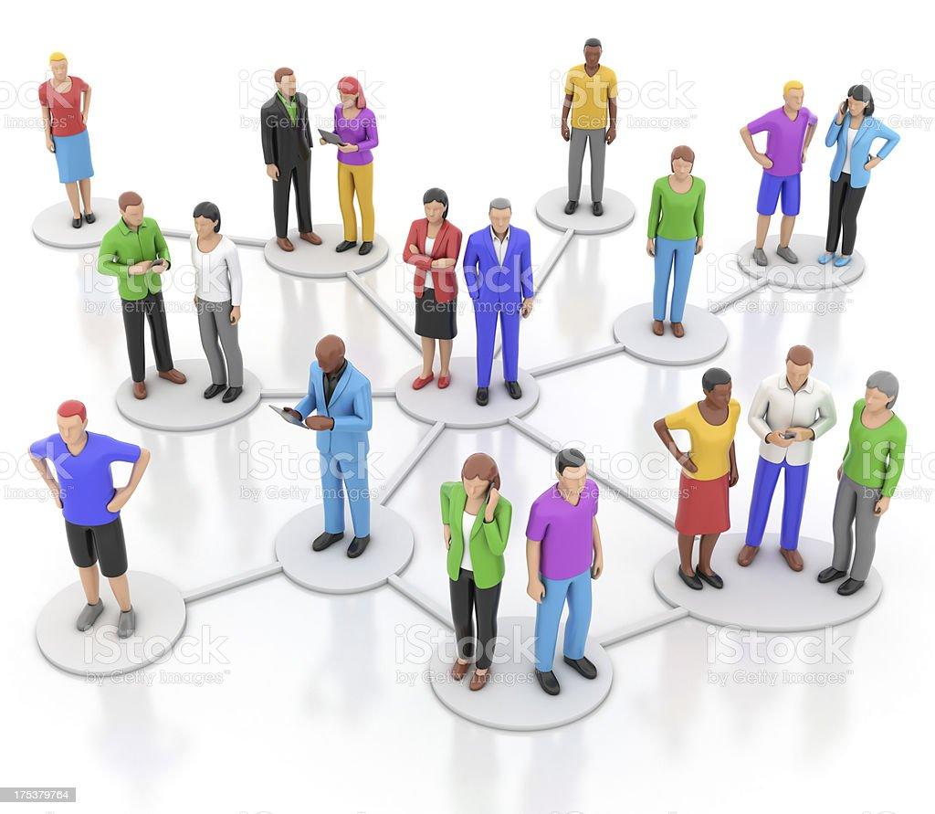 Informal organisation chart royalty-free stock photo