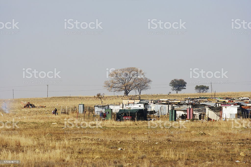 Informal Settlement two stock photo