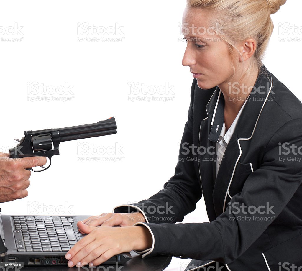 Informatic terrorism - Call center under attack royalty-free stock photo