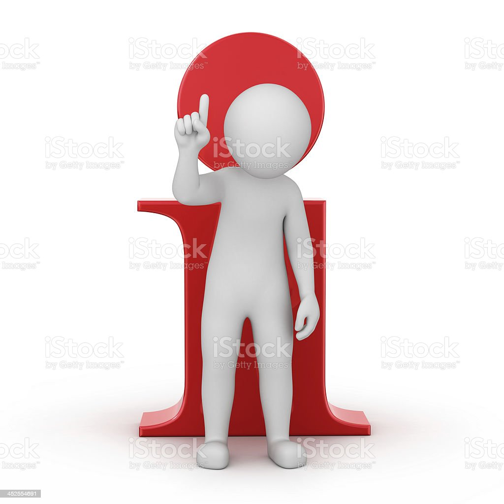 information! 3d human and an info icon stock photo