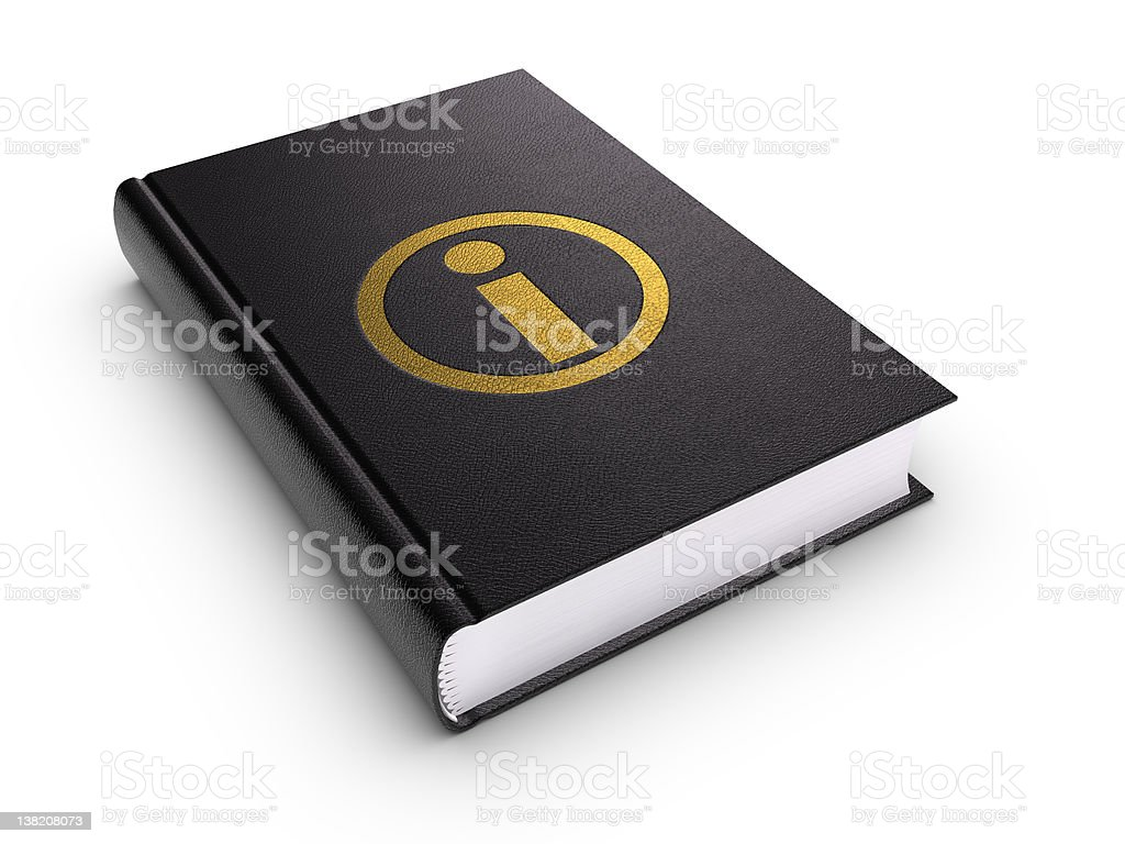 Information Book (isolated) stock photo