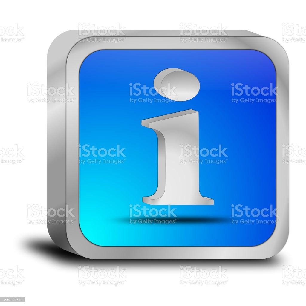 Information Button - 3D illustration stock photo