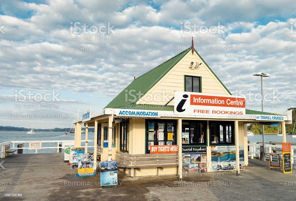 Information Centre in Russell, New Zealand stock photo