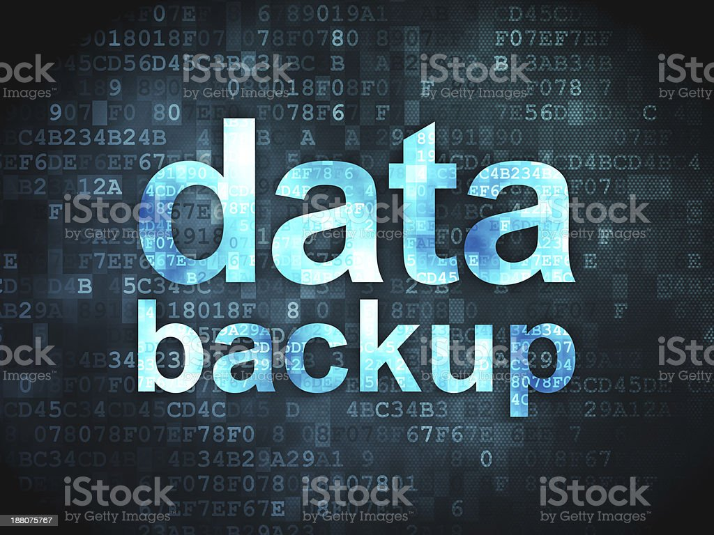 Information concept: Data Backup on digital background royalty-free stock photo