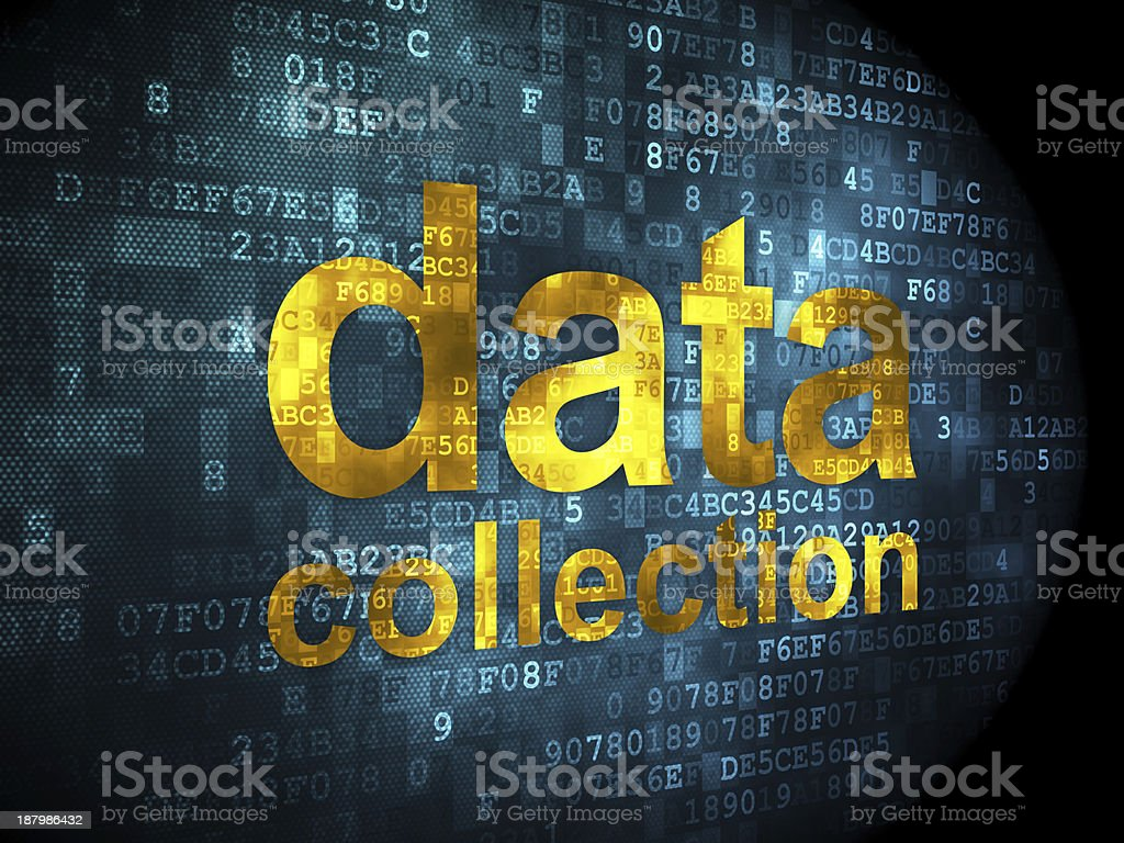 Information concept: data collection on digital background stock photo