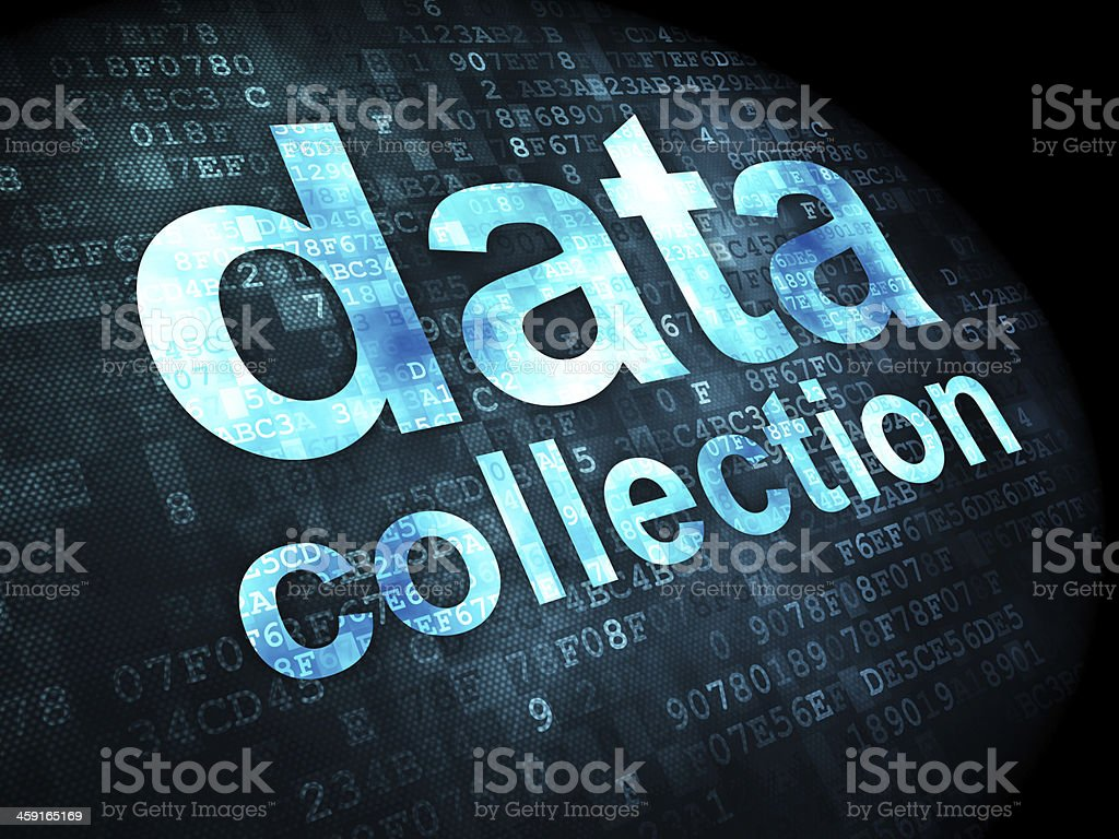 Information concept: Data Collection on digital background royalty-free stock photo